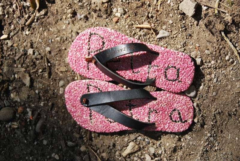 Beautiful woman sandals- flip flops