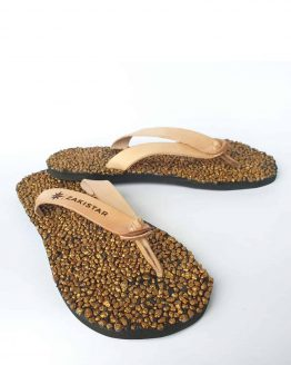 Flip flops for women- gold rush